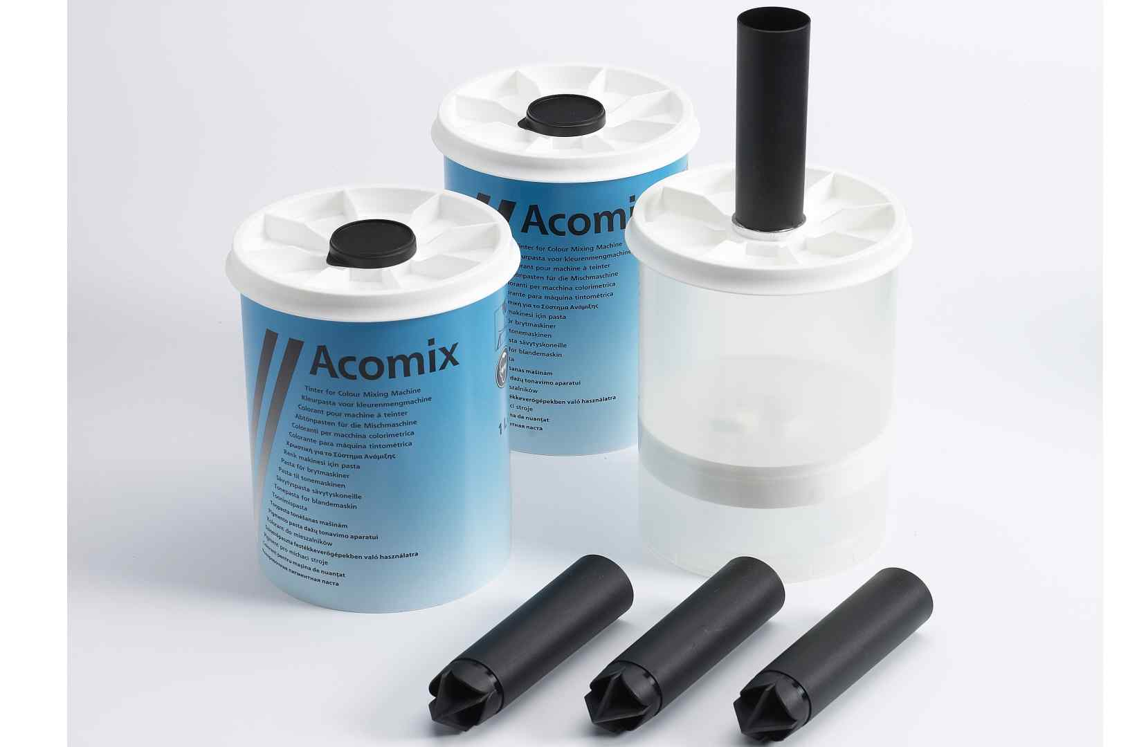 Pigment paste packaging, Acomix